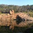 The Big Rock of the Devil's Waterhole in Inks Lake State Park