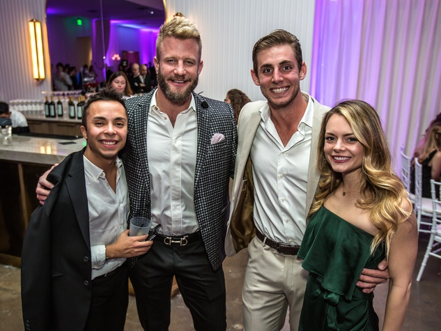 Dallas, CASAblanca gala, January 2018, Jacob Wikander, Kelly Bennett, Austin Fennema, Michele Morris