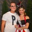 Derek Key and Ashley Breitigam at the St. Luke's PULSE Saints & Sinners Halloween party October 2013