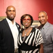 John Guess IV, from left, Carol Guess and John Guess Jr. at the HMAAC Kinsey Collection reception August 2014