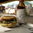 Burger at Keller's Drive-in in Dallas
