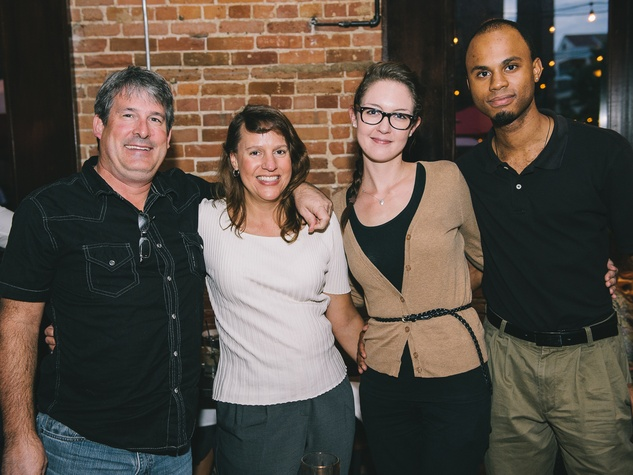 16 Dine Around Houston at Batanga September 2013 Edwin Terry, Iris Holloway, Caitlin Barnett, Kevin Johnson