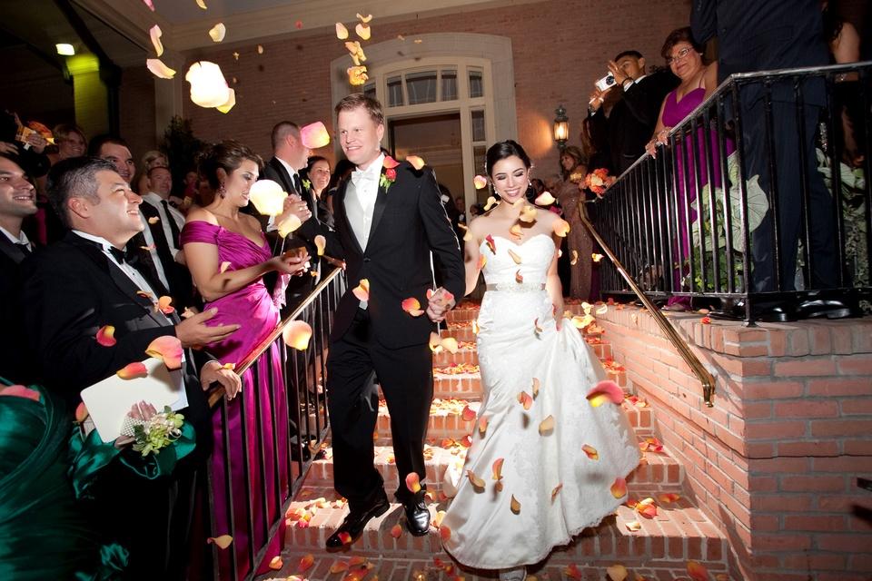 Spectacular weddings, petal toss, shelby, Erica de Lachica, Eric Zehnder, Feburary 2014