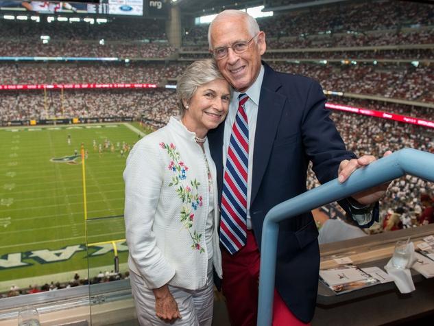 16 Anne and Dr. John Mendelsohn at the Houston Texans Owner's Suite party at NRG Stadium September 2014