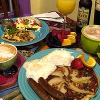Pacha Organic Cafe Austin restaurant coffee shop breakfast pancakes