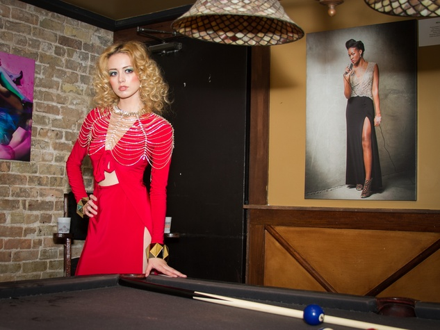 FashionXAustin Austin Fashion Week Kickoff 2015 at Speakeasy 1970s Look Michelle Washington