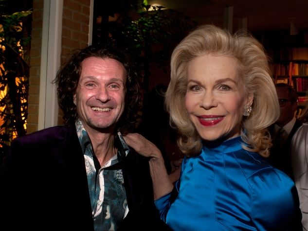 2 Jerry Stafford and Lynn Wyatt at the Lynn Wyatt reception at Menil House December 2013