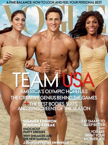 Olympics 2012 fashion, Vogue, Hope Solo, Ryan Lochte, Serena Williams