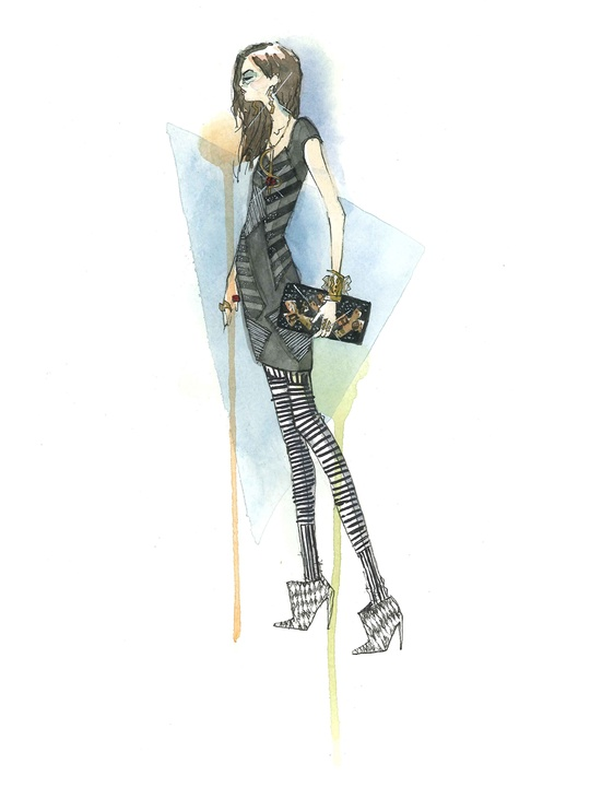 Fashion Week fall 2013, sketches, January 2013, Kelly Wearstler