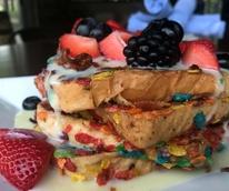 Houston, Bosscat Kitchen new brunch menu, April 2017, Fruity Pebbles French Toast