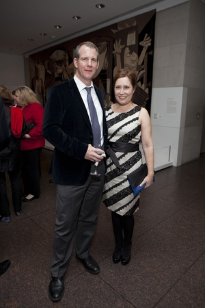 Picasso Black and White opening dinner, February 2013, John Dagley, Kari Gonzales