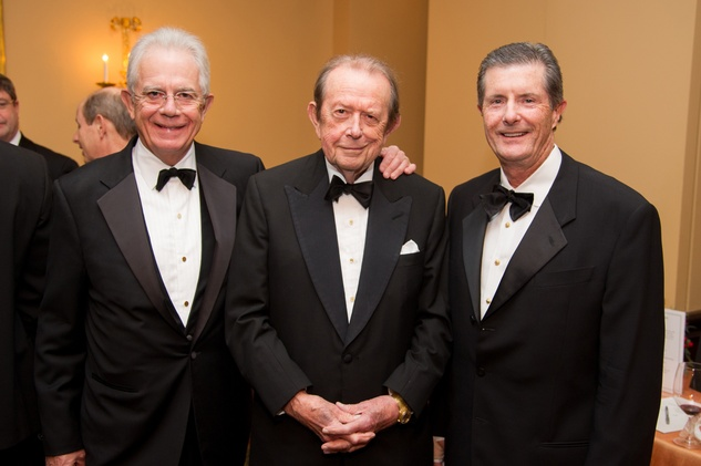 14 Phil John, from left,  Meredith Long and Edwin Murphy at the Alley Theatre's Wild Things dinner November 2013