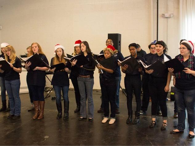 Carolers at CultureMap Holiday Pop-up Shop 2014