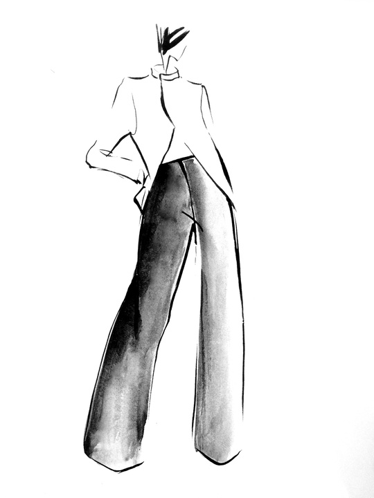 Fashion Week spring 2015 sketch Sept. 2014 Ji Oh Spr 15 Inspiration 2
