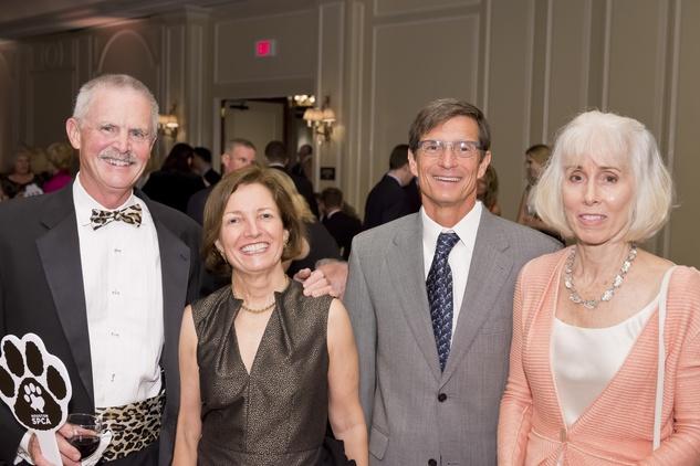 Houston, Shelby, SPCA Gala, April 2015, Dr. Mark Van Ness, Carla Knobloch, Brian Smyth and Kathy Smyth