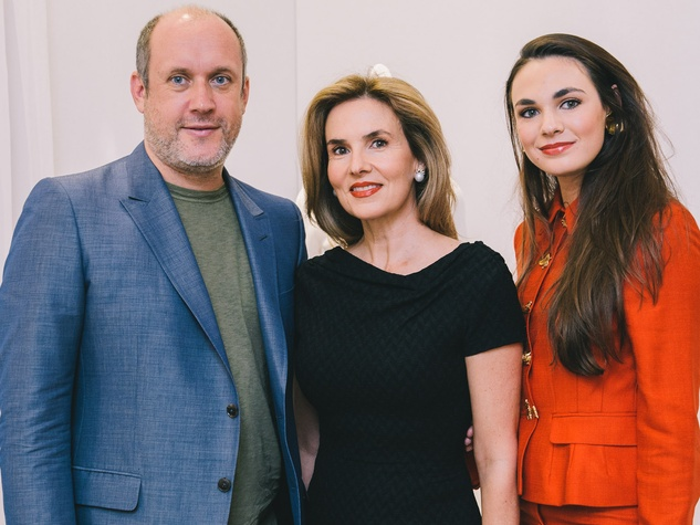 137 Peter Copping for Nina Ricci October 2013 Peter Copping, from left, Celina Hellmund and Nina Brener-Hellmund