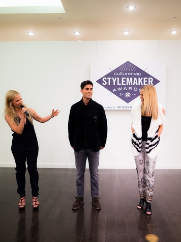 Jenny Kirtland and her models at 2014 CultureMap Stylemaker Awards