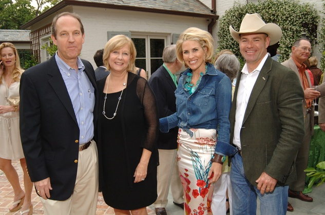 Kevin and Jacque Bartol, from left, and Amy and Hardy Murchison at the Katy Prairie Conservancy fundraiser May 2014