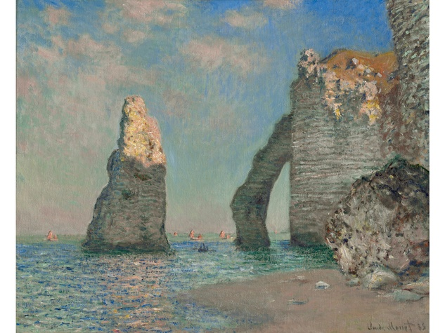 MFAH The Age of Impressionism December 2013 Monet - The Cliffs at Étretat