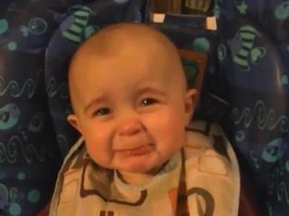 Sad baby on YouTube