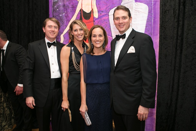 12 Jon and Jennifer Daly, from left, and Meredith and Langston Turner at the Junior League of Houston Gala February 2015