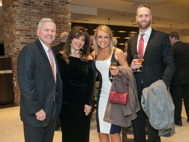 Astros Diamond Gala, Jan. 2016, John Havens, Terri Havens, Kelly Feldman, Scott Feldman