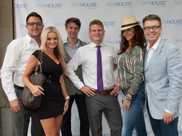 Ben Perry, Svetlana Golubchik, Nick Perry and party guests, Skyhouse Dallas