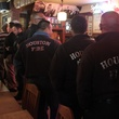 Houston firefighters in line at Goode Company BBQ