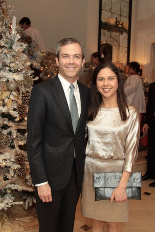 John B. Connally IV and Nellie Connally at the 9th Annual Santa's Elves Event December 2014