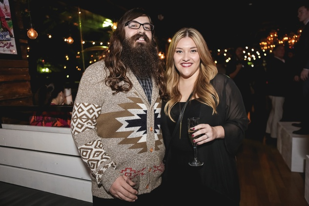 Matt and Sara Broussard at the Page Parkes & Ruggles Black Holiday Soiree December 2014