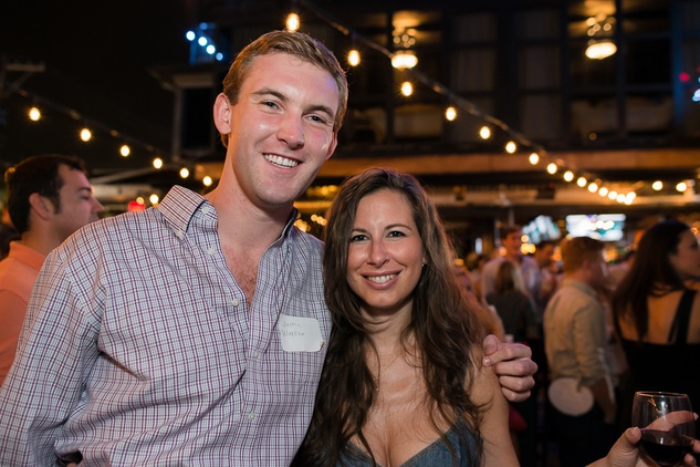 Justin Walker and Alinda Gary at the RedBuds Membership Drive October 2014