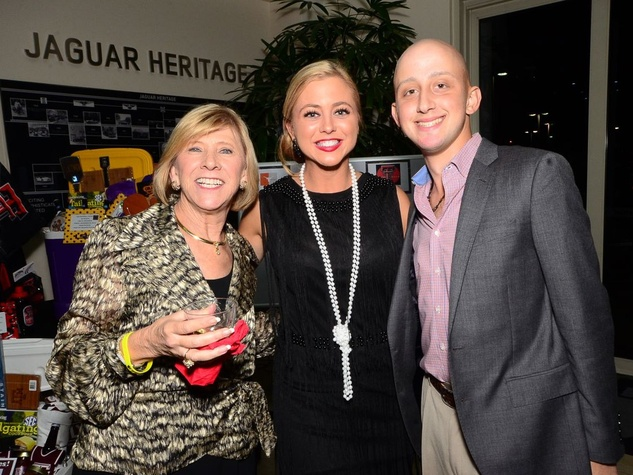 112 Marilyn Eiland, from left, Jennifer Wisler and James Ragan at the Fellas and Flappers Sunshine Kids event October 2013