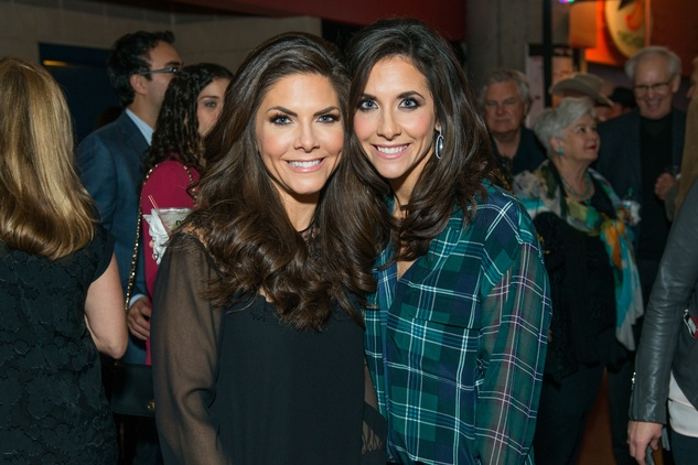 Monica Blaisdell, left, and Hannah McNair at the Friday Night Lights Depelchin benefit November 2014