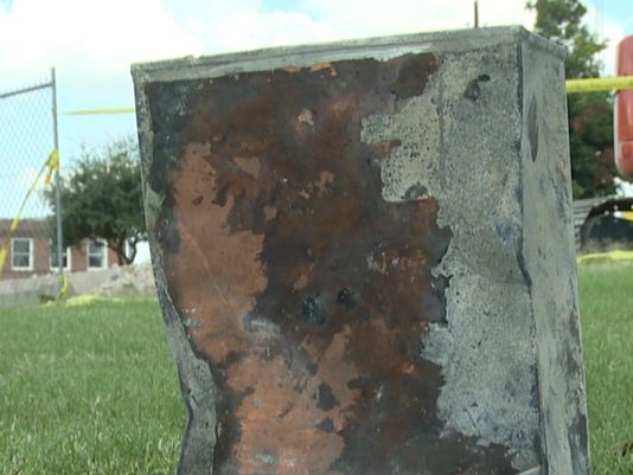 time capsule uncovered in Taylor at old city hall