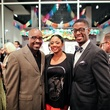Dexter Evans, from left, Denise Furlough and Dexter W. Johnson at the Lawndale Gala and Retablo Silent Auction October 2013