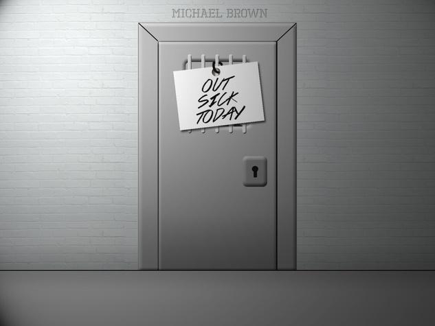 Michael Brown, jail, sick
