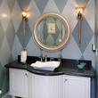 Art Deco wallpaper in bathroom