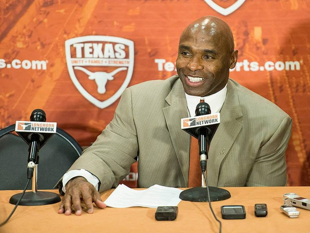 Texas head football coach Charlie Strong at introductory press conference jan 6 2014 Texas Longhorns