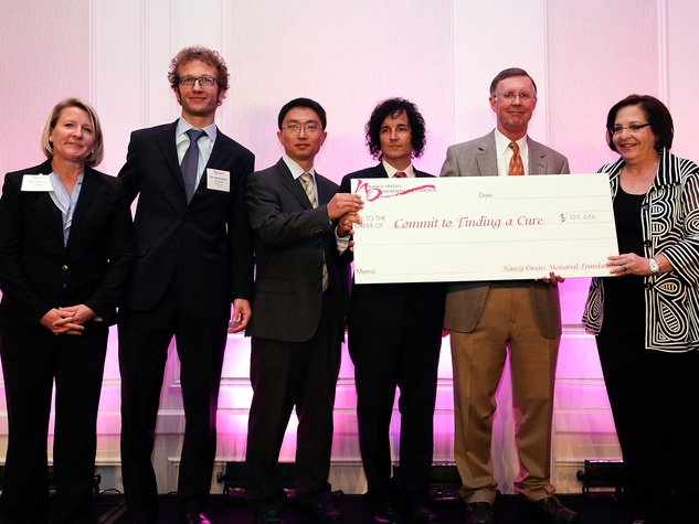 Dr. Melissa Landis, from left, Dr. Alessandro Grattoni, Dr. Xiaosong Wang, Dr. Anthony Lucci, Dr. Kent Osborne and Amy Bernstein at the Nancy Owens luncheon October 2013