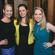 Katie Chachere, from left, Anna Kuperstein and Kristin Kruse at the Houston Symphony Young Professionals Backstage kick-off party