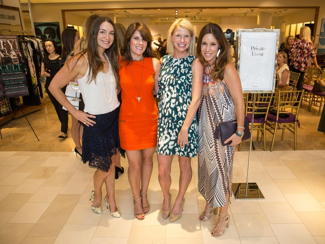 Roberto Cavalli fall fashion show DKR Fund benefit 2016 Amanda Oudt Holly Brown Megan Matza Laura Hurst