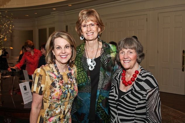 Center for Contemporary Craft luncheon May 2013 Carrin Patman, Paula Arnold and Sara Morgan