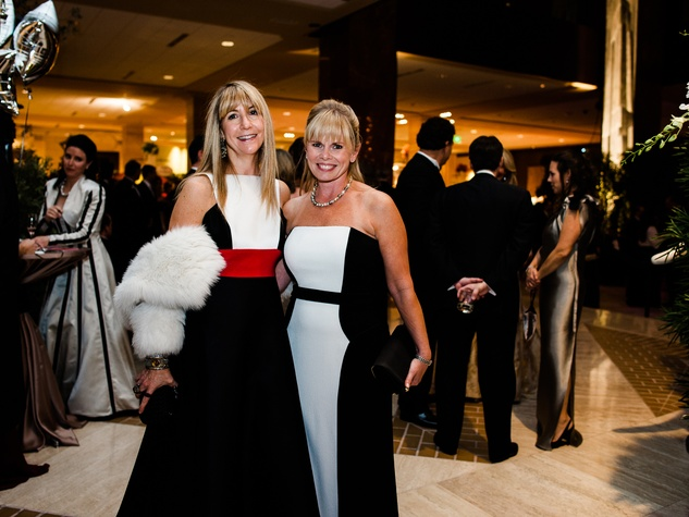 Nancy Carlson, Stacy Walker at Crystal Charity Ball 2013