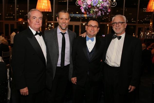 Tuts Gala 2015 TUTS' CEO & President John Breckenridge, Adam Pascal, Gala Chair Dan Domeracki and TUTS'  Artistic Director Bruce Lumpkin