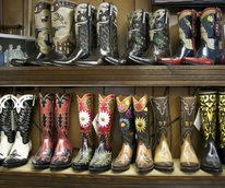 Display of Multiple Littles Boots