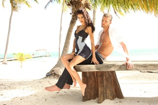 Chandler Parsons and Ashley Sky in Buffalo Jeans ad