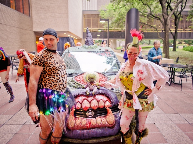 229 David Robertson and Kimi Bainter at the Art Car Ball April 2015