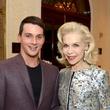 193 Jonathan Tinkle and Lynn Wyatt at the Jonathan Blake fashion show October 2014