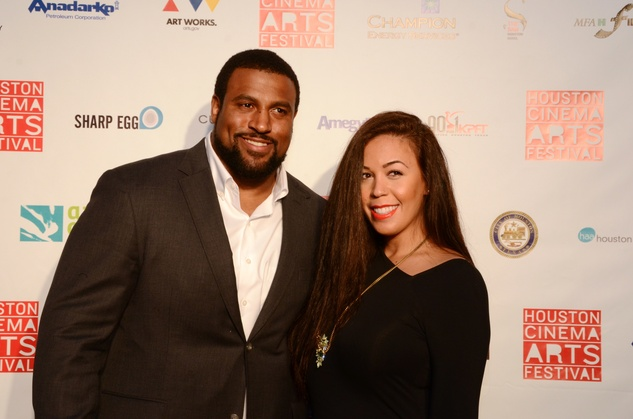 Duane and Devon Brown at the Houston Cinema Arts Festival opening night party November 2013