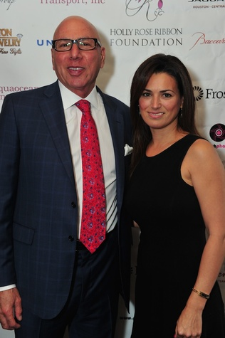 Dr. Franklin Rose and Michelle Etter at the Holly Rose Ribbon Foundation Day dinner September 2014